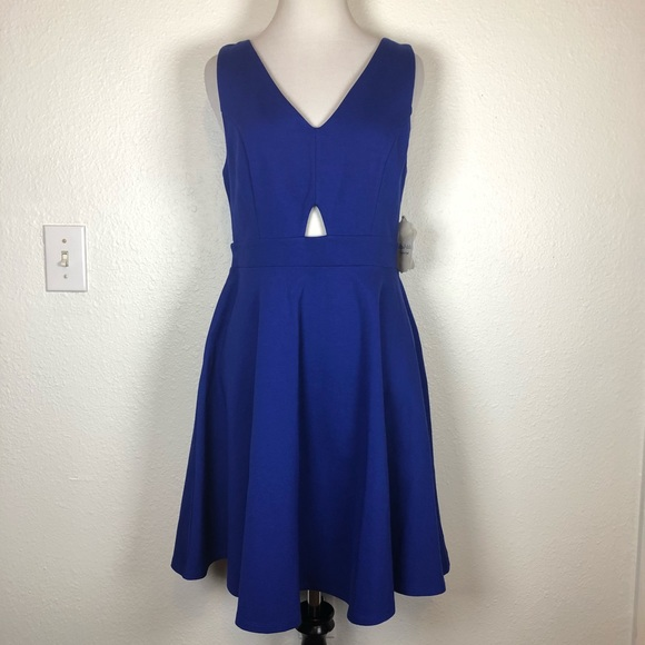 455d1bb86fb86 Altar d State royal blue cutout v neck dress large